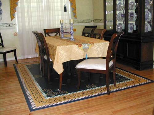 Floorcloth in Dining Room