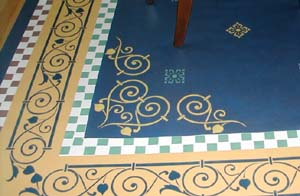 Details of floorcloth