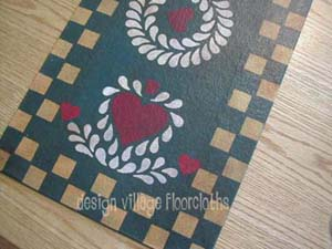 Heart and Feather Wreath Table Runner