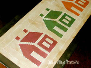 House Quilt Table Runner