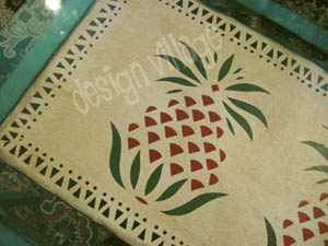 Pineapple Table Runner in Tan
