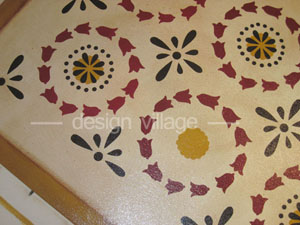 Close up picture of Lunenburg Floorcloth. Click here to view our preview gallery.