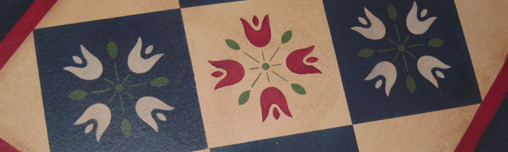 Amish Tulip Floorcloth