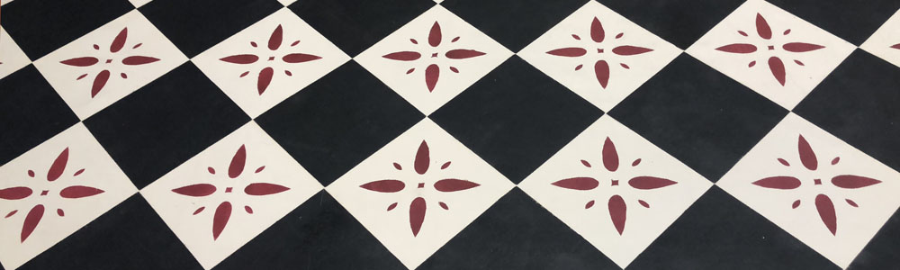 Octagon Pattern Floorcloth