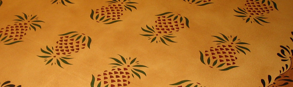 Primitive Pineapple Floorcloth