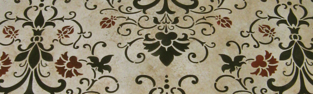Vintage Damask Floorcloth