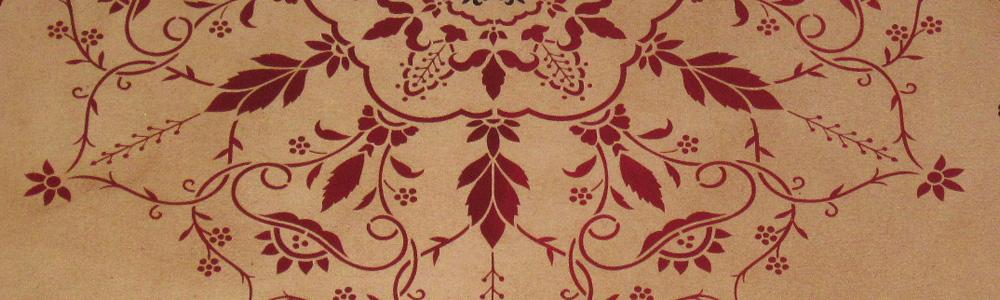 Close up picture of Wedgewood Floorcloth.