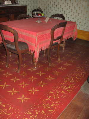 Floorcloth at the Whaley House Museum