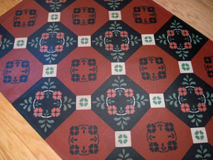 Four Leaf Clover Floorcloth