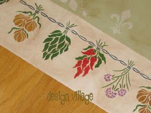French Country Herbs Floorcloth