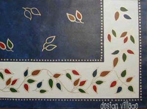 Jasmine Vine Floorcloth