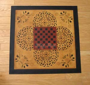 Durant House Gameboard floorcloth