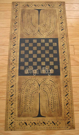 Hand Painted Canvas Primitive Willow Gameboard