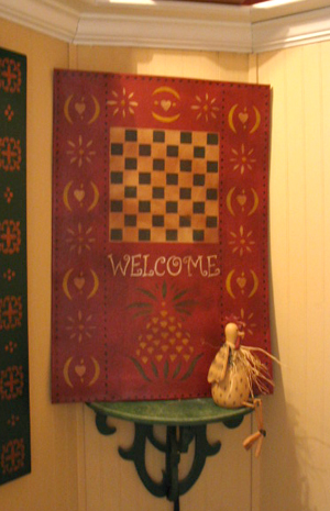 Primitive Pineapple Welcome Sign