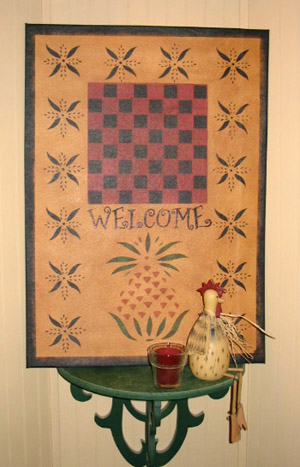 Primitive Welcome Sign