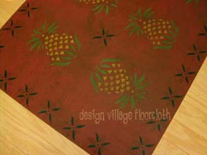 Early American Pineapple Floor cloth #1