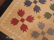 Bear's Paw floorcloth