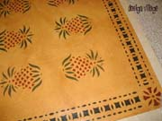 Early American Pineapple floorcloth