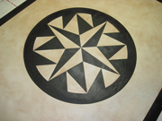 Compass Rose Floorcloth 5x7