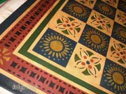 Early American Quilt floorcloth