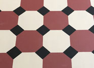 Octagon Design Floorcloth