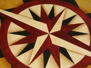 Compass Rose floorcloth