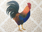 Rooster Floorcloth