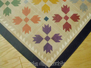 Bear's Paw Quilt Runner Floorcloth