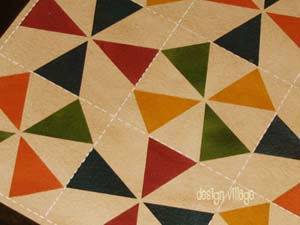 Kaleidoscope Quilt Floorcloth