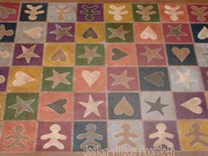 Primitive Penny Rug Floor Cloth